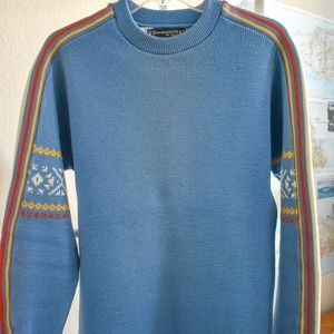 Obermeyer 100% Virgin Wool Retro DesignSki Sweater